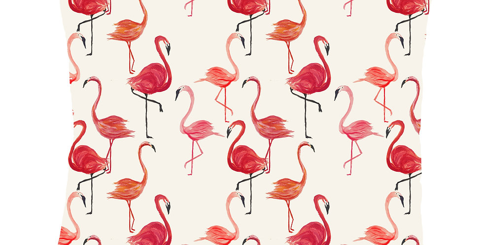 Flamingo Velvet Cushion