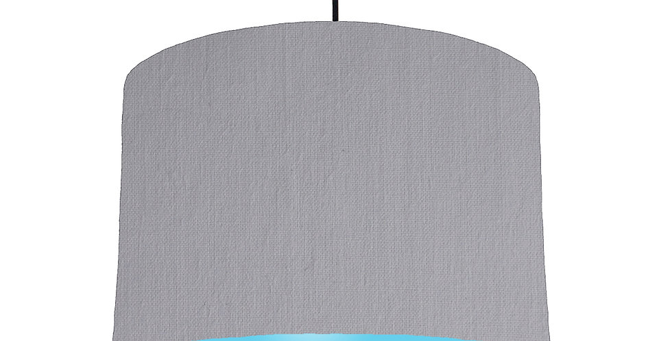 Light Grey & Light Blue Lampshade - 30cm Wide