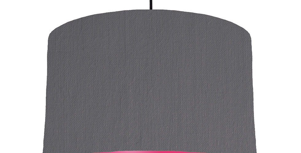 Dark Grey & Magenta Lampshade - 40cm Wide