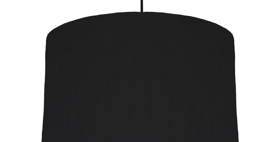 Black & Black Lampshade - 40cm Wide
