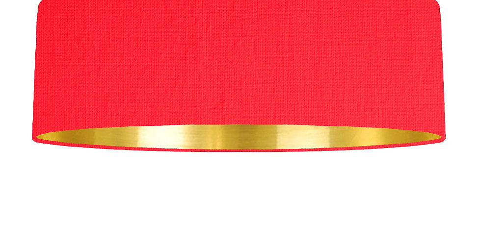 Neon Pink & Gold Mirrored Lampshade - 100cm Wide