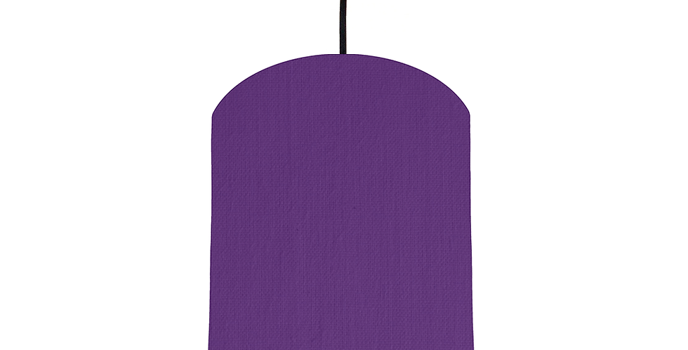 Violet & White Lampshade - 20cm Wide