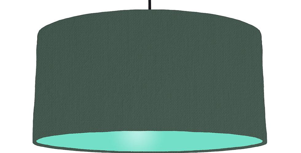 Bottle Green & Mint Lampshade - 60cm Wide