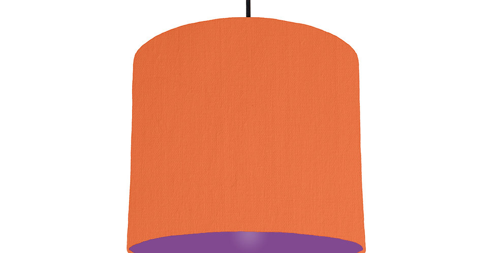 Orange & Purple Lampshade - 25cm Wide