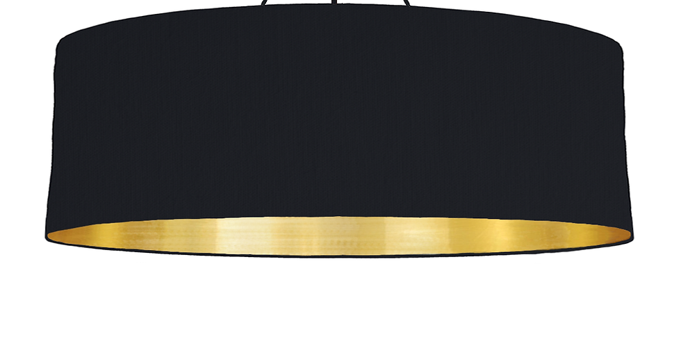 Black & Brushed Gold Lampshade - 100cm Wide