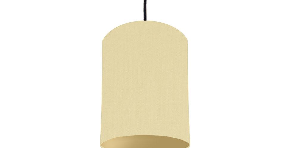 Natural & Gold Matt Lampshade - 15cm Wide