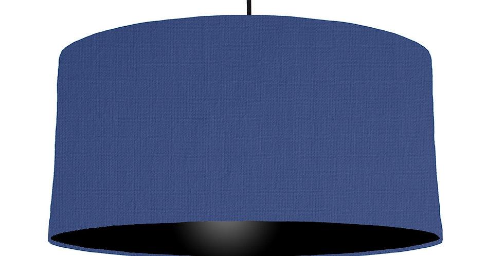Royal Blue & Black Lampshade - 60cm Wide