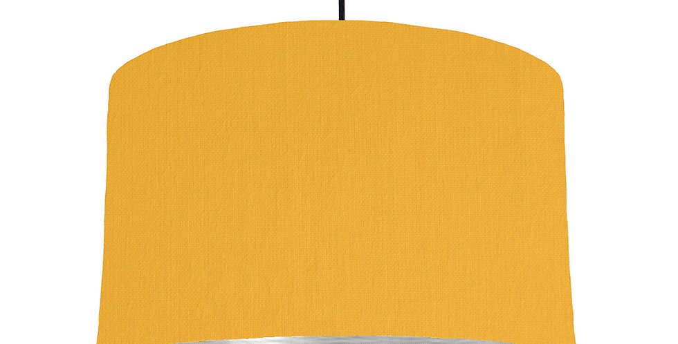 Sunshine & Brushed Silver Lampshade - 40cm Wide