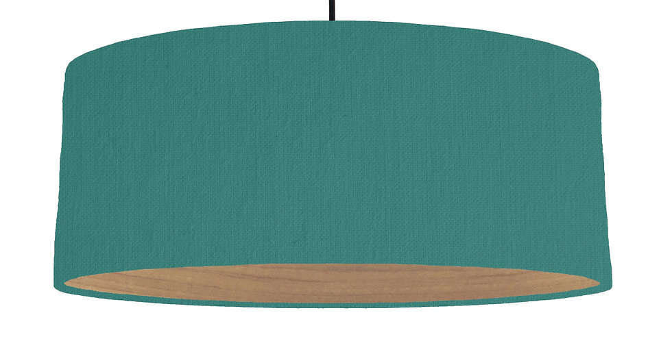 Jade & Wooden Lined Lampshade - 70cm Wide