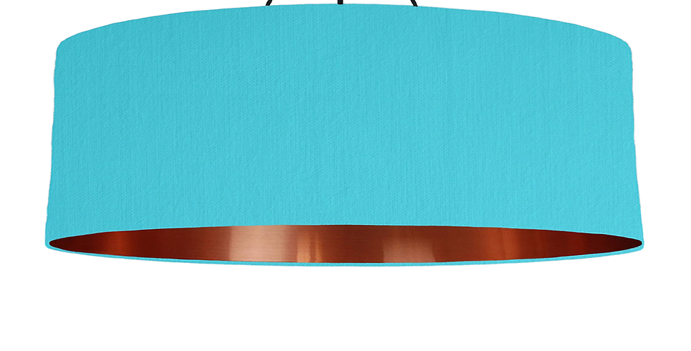 Turquoise & Copper Mirrored Lampshade - 100cm Wide