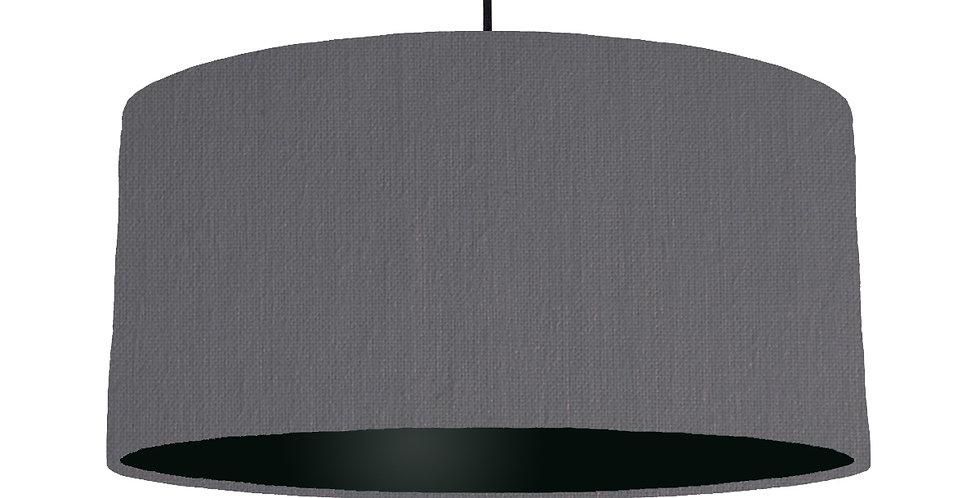 Dark Grey & Black Lampshade - 60cm Wide