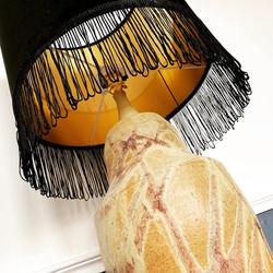 Black Velvet fringed lampshade