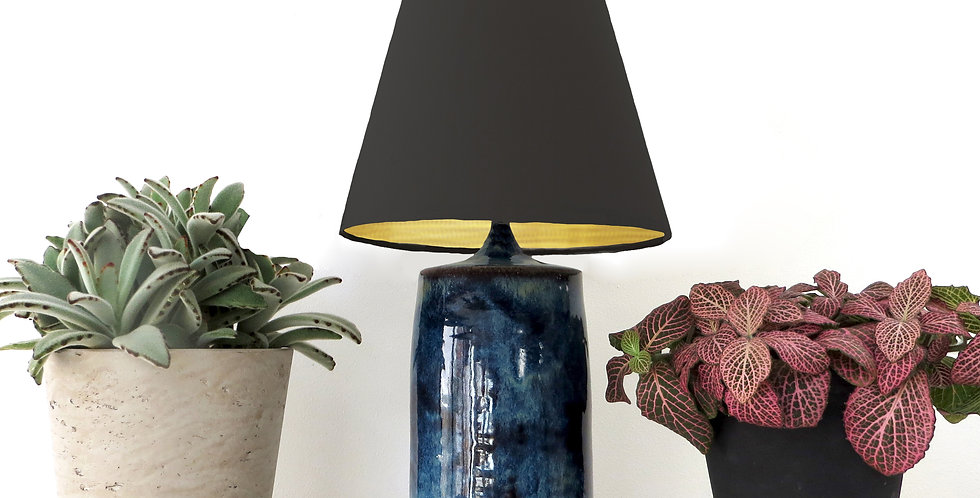 Conical Lampshade (10Tx20Bx20H) - Brushed Gold lining