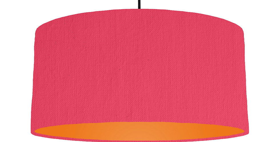 Cerise & Orange Lampshade - 60cm Wide