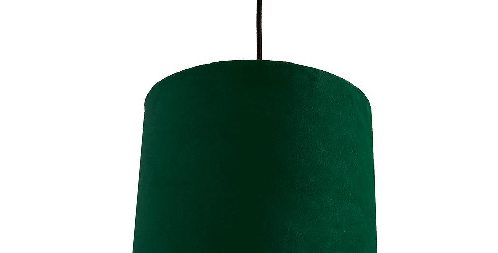 Forest Green Velvet Lampshade