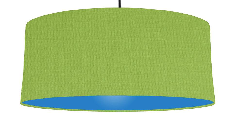 Pistachio & Bright Blue Lampshade - 70cm Wide