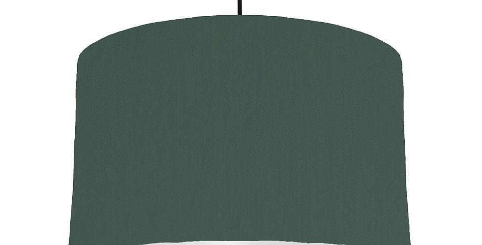 Bottle Green & Light Grey Lampshade - 40cm Wide