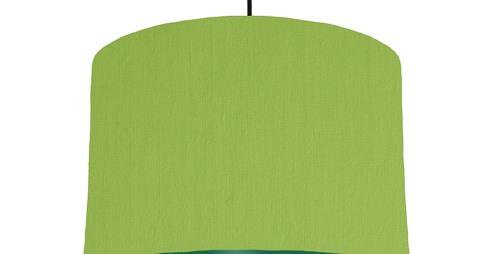 Pistachio & Forest Green Lampshade - 30cm Wide