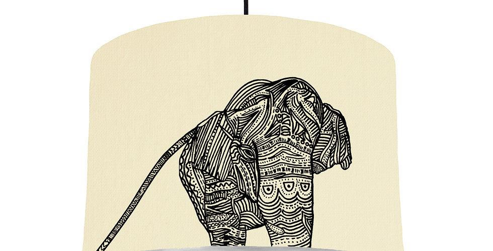 Elephant - Natural & Brushed Silver