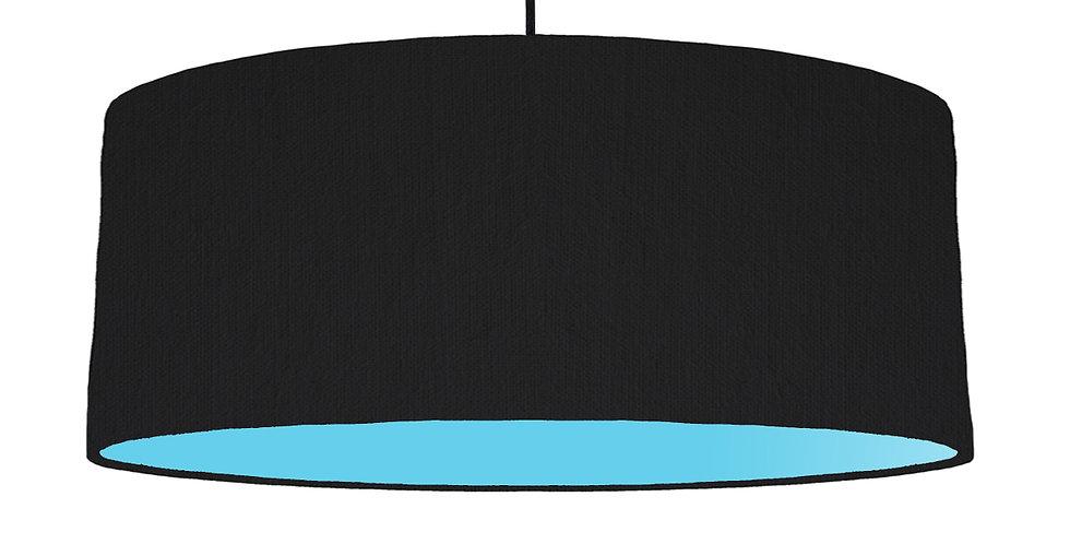 Black & Light Blue Lampshade - 70cm Wide