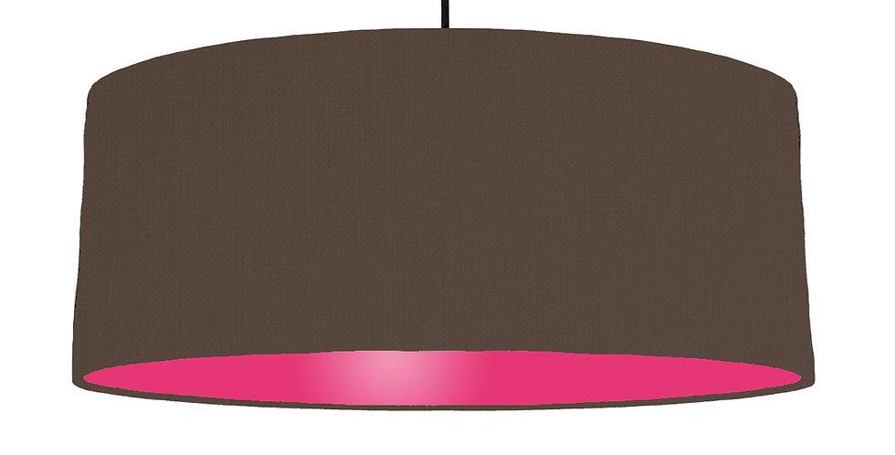 Brown & Magenta Lampshade - 70cm Wide