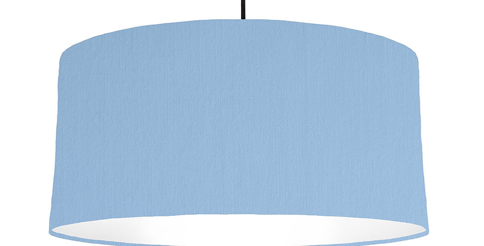 Sky Blue & White Lampshade - 60cm Wide