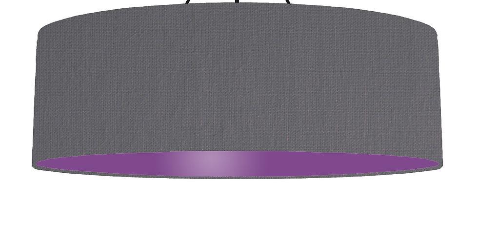 Dark Grey & Purple Lampshade - 100cm Wide