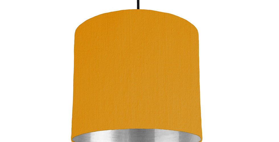 Mustard & Silver Mirrored Lampshade - 25cm Wide