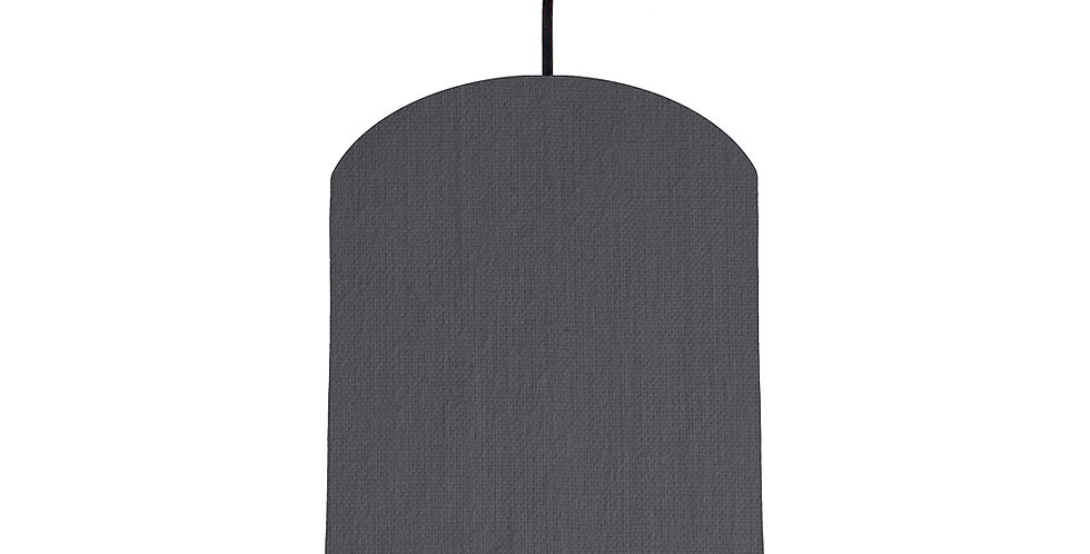Dark Grey & Lime Green Lampshade - 20cm Wide