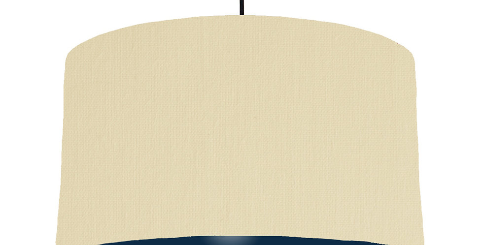 Natural & Navy Lampshade - 50cm Wide