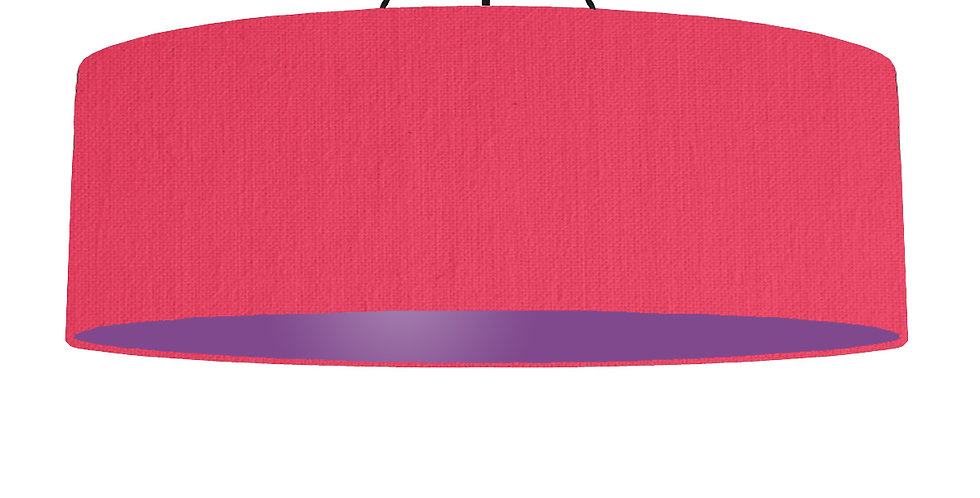 Cerise & Purple Lampshade - 100cm Wide
