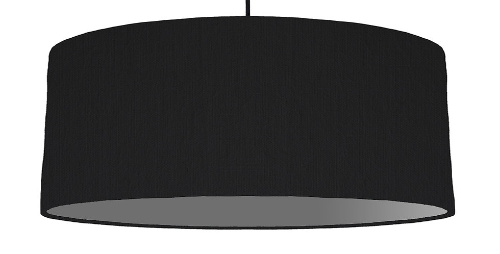 Black & Dark Grey Lampshade - 70cm Wide