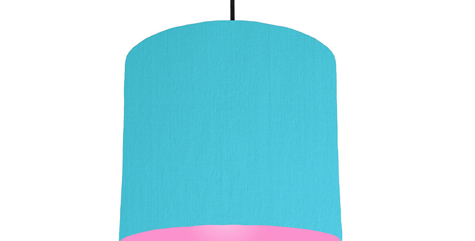 Turquoise & Pink Lampshade - 25cm Wide