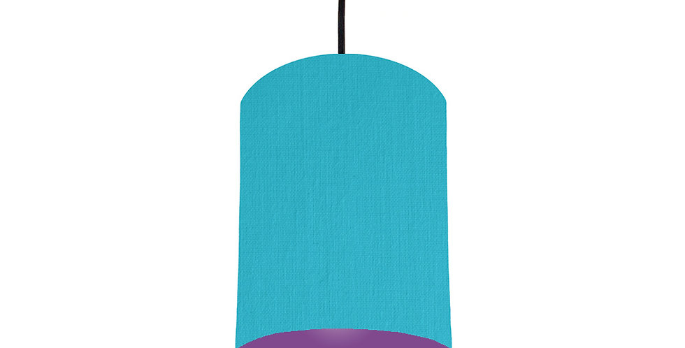 Turquoise & Purple Lampshade - 15cm Wide