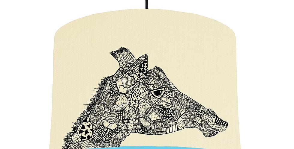 Giraffe - Natural & LightBlue