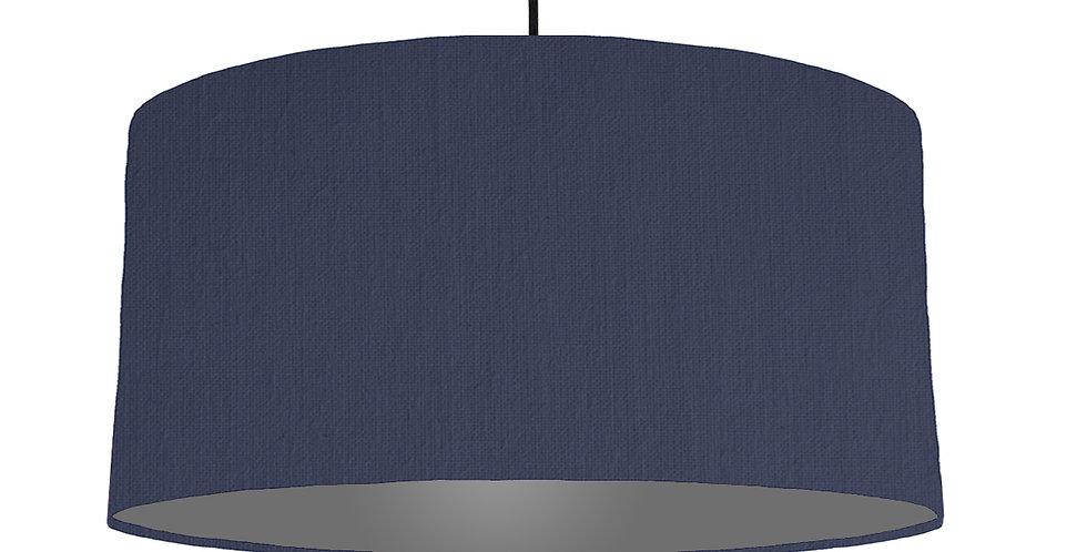 Navy Blue & Dark Grey Lampshade - 60cm Wide