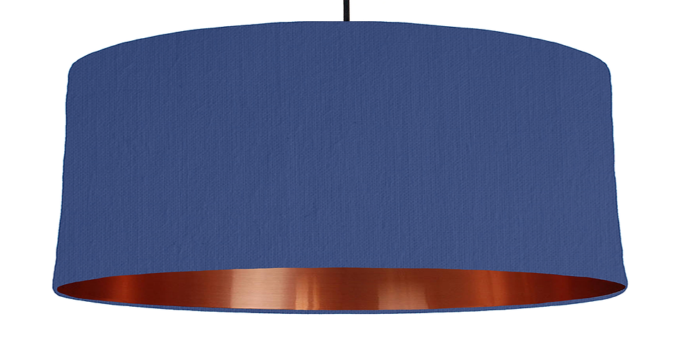 Royal Blue & Copper Mirrored Lampshade - 70cm Wide