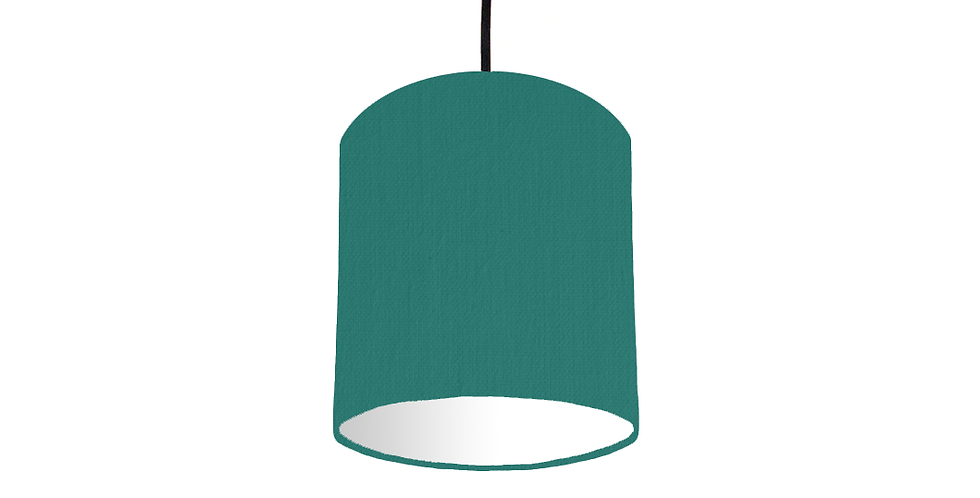 Jade & White Lampshade - 15cm Wide