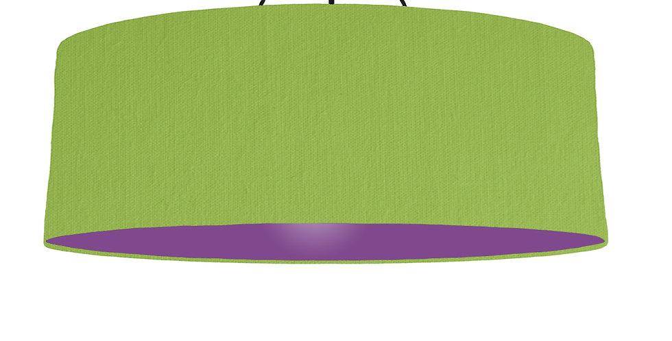 Pistachio & Purple Lampshade - 100cm Wide