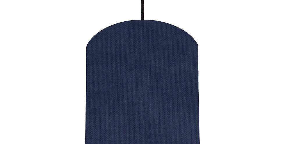Navy Blue & Burgundy Lampshade - 20cm Wide