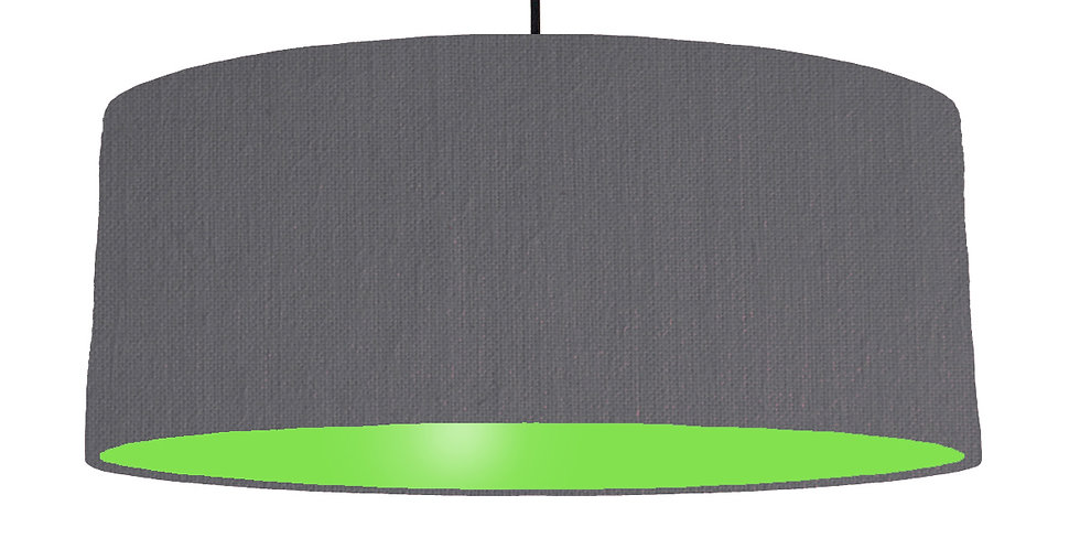 Dark Grey & Lime Green Lampshade - 70cm Wide