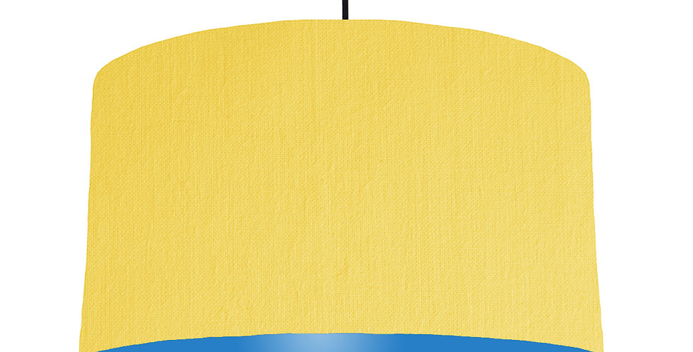 Lemon & Bright Blue Lampshade - 50cm Wide