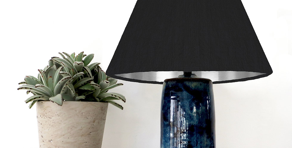 Conical Lampshade 15Tx45Bx30H) -  Silver Mirror Lining