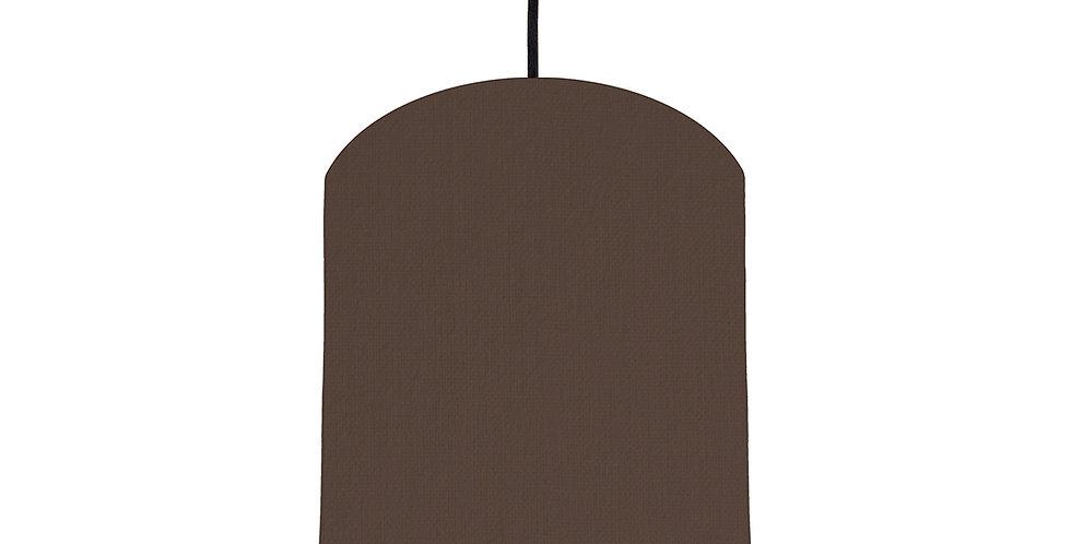 Brown & Orange Lampshade - 20cm Wide