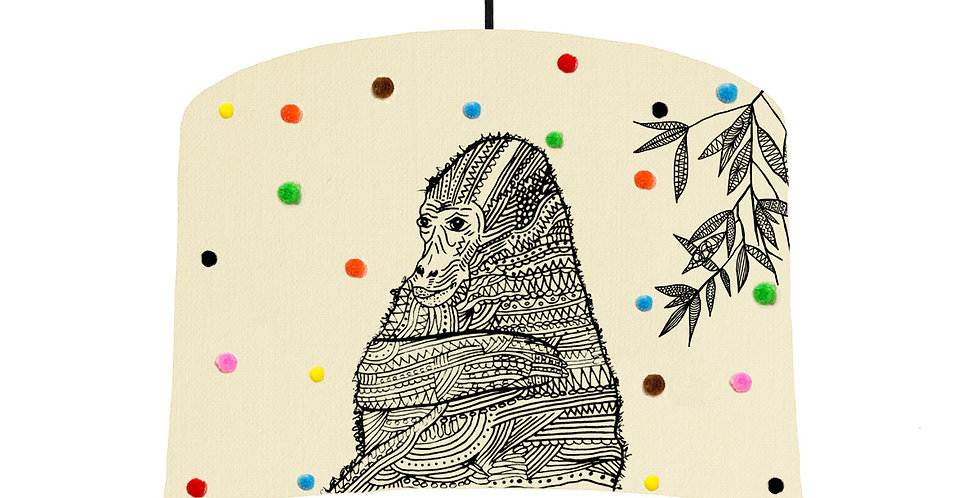 Gorilla Pom Pom Lampshade - White Lining