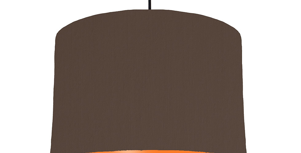 Brown & Orange Lampshade - 30cm Wide