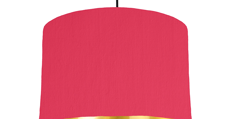 Cerise & Gold Mirrored Lampshade- 30cm Wide