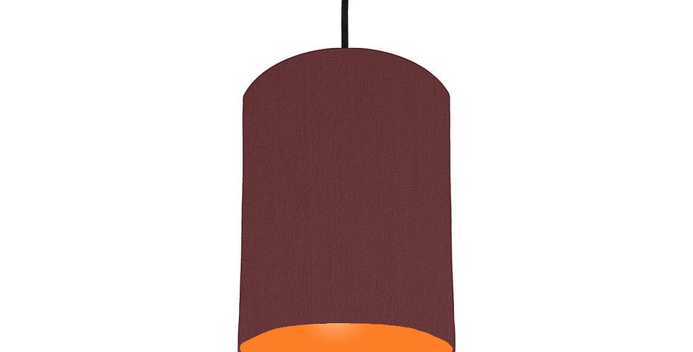 Wine Red & Orange Lampshade - 15cm Wide
