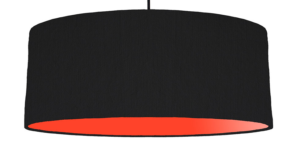 Black & Poppy Red Lampshade - 70cm Wide