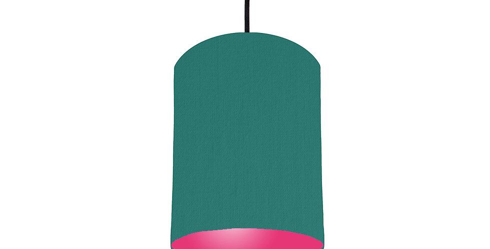 Jade & Magenta Pink Lampshade - 15cm Wide